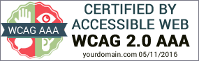 Example of Accessible Web Certified Badge AAA