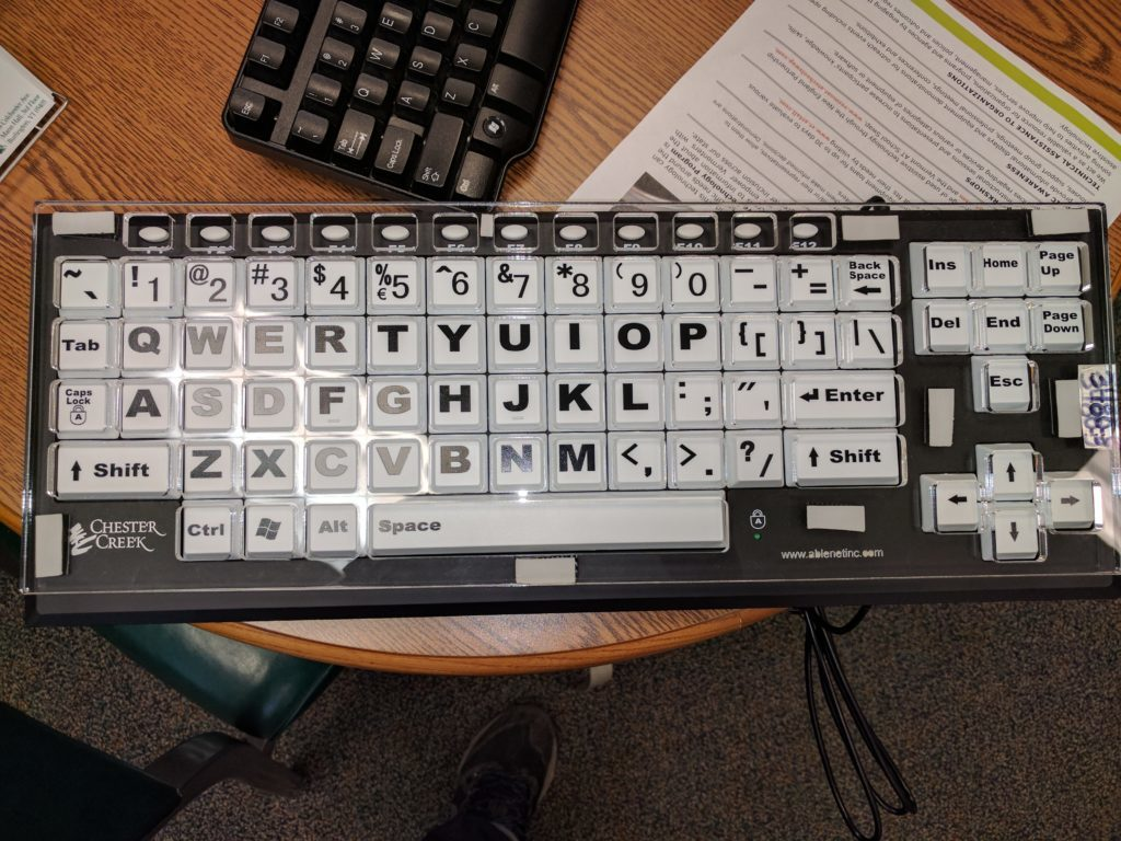 Keyboard with Large Keys
