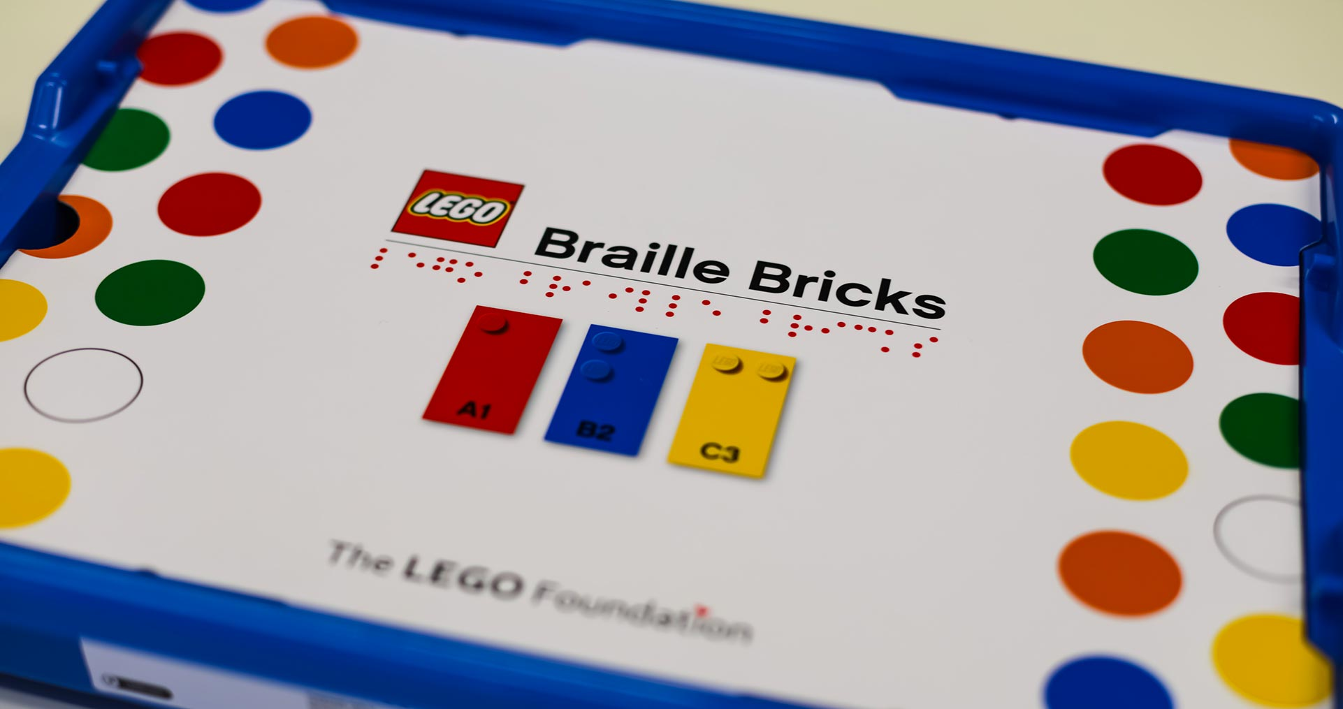 Image of the new LEGO Braille Bricks box