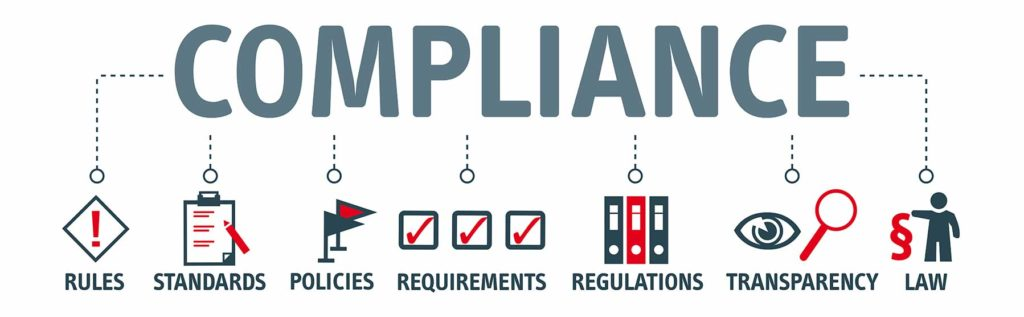 Image showing icons & words related to compliance