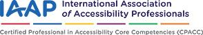 IAAP CPACC Certification Logo
