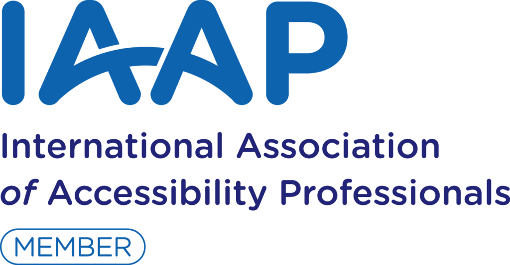 International Association of Accessibility Professionals (IAAP) logo