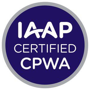 IAAP Certified CPWA badge
