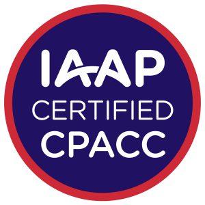 IAAP Certified CPACC Badge