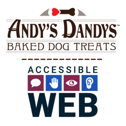 Andy's Dandys and Accessible Web logo